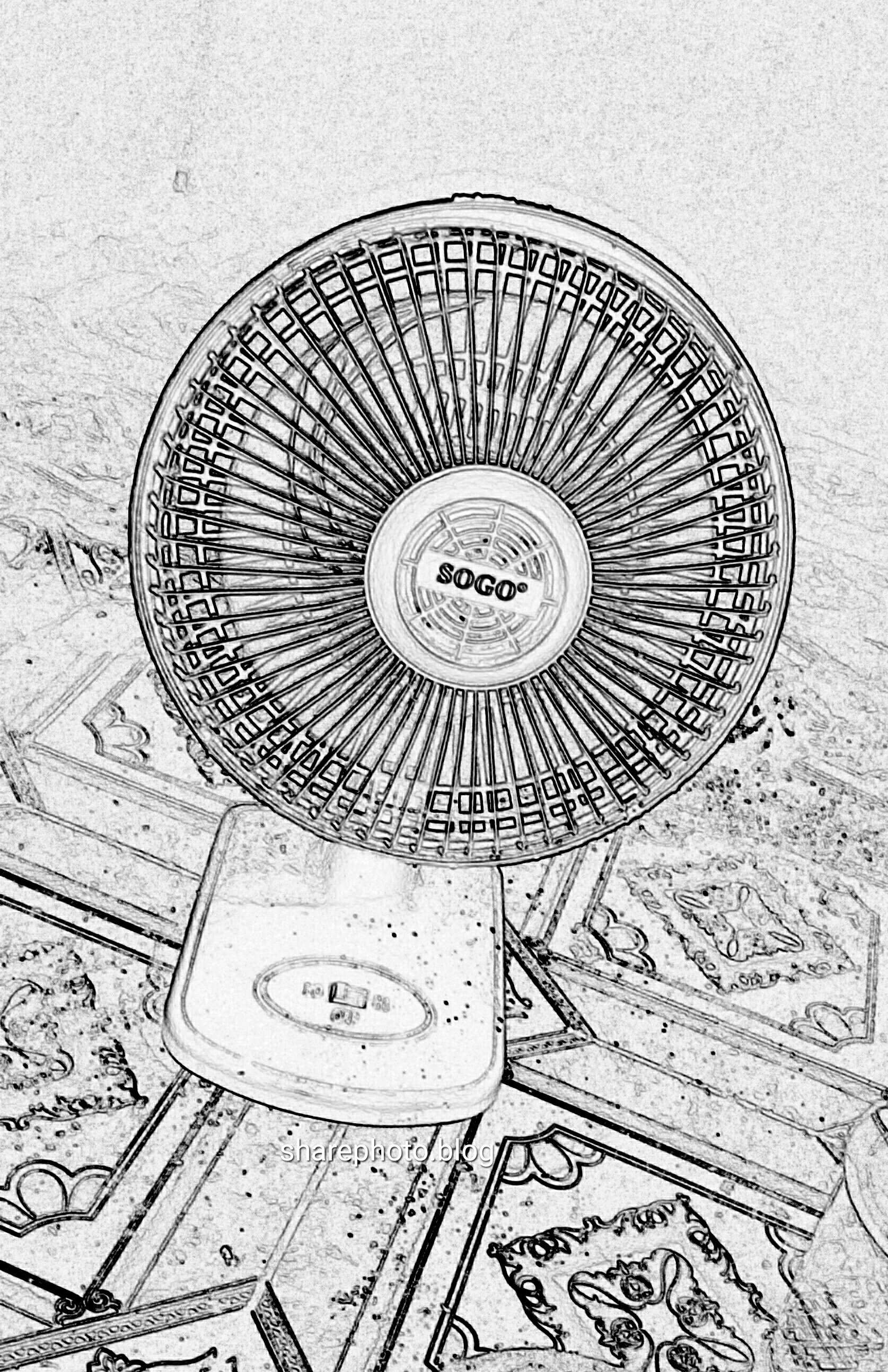 A Sketch Of A Electric Fan : Photo sketch electric fan sharephoto